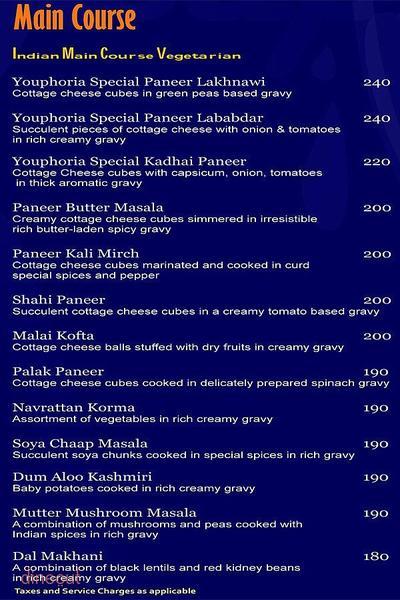 Youphoria Restaurant Bar & Lounge Menu 13
