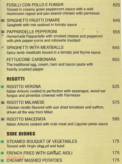 Spaghetti Kitchen Menu 6
