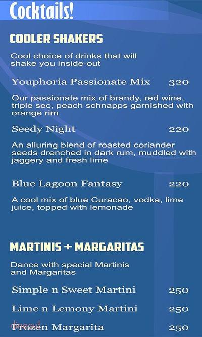 Youphoria Restaurant Bar & Lounge Menu 22
