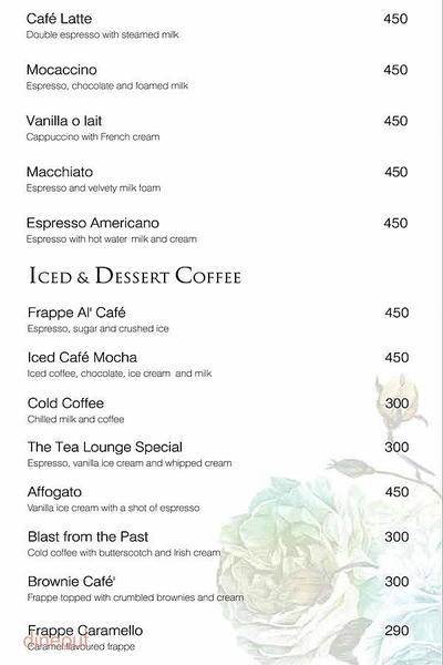 The Tea Lounge - Taj Palace Menu 11