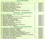 Green Lounge Menu