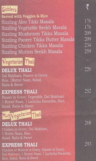 Moti Mahal Express Menu 2