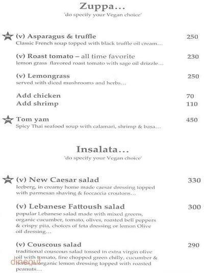 Cafe Basilico - Bistro & Deli Menu