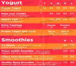 Yogurberry Menu
